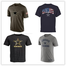 Wholesale Cowboys T Shirts cheap rugby football jerseys Dallas Salute To Service Banner Wave Black Gold Collection Tshirts
