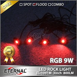 Mini-roches en Ligne-Télécommande sans fil 4pcs ensemble mini RGB LED roche lumière Off Road ATV voiturette de golf Truck Truck Rock Crawler rock lampe