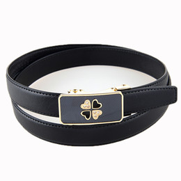 Wholesale New Style Ratchet Automatic Genuine Leather Lady Belt Women Female Strap Good Quality Gift for Friend Ladies Belts PW8