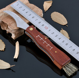 Rosewood Handle Mushroom Knife Camping Tool Gift Cutter Outdoor Knife