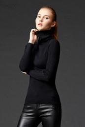 Wholesale hot sale long sleeve render unlined upper garment turtleneck sweater of cultivate one s morality Women s turtleneck sweater