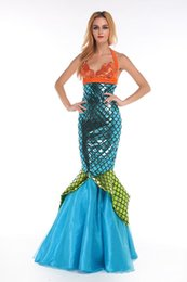 Halloween costume The little mermaid role-playing Bra dress suit club evening wear costumes