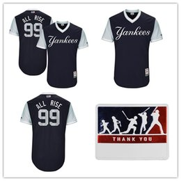 "Men's baseball jersey New York Yankees Aaron Judge ""All Rise"" Majestic Navy 2017 Players Weekend baseball Jersey"