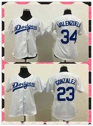 Wholesale New Product Women Los Angeles Dodgers Baseball Jersey Adrian Gonzalez Fernando Valenzuel White Grey Ladies Jerseys