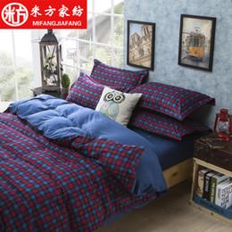 Wholesale Reactive impresión algodón funda de edredón set conjunto de ropa de cama más colores Full reina King cubre cubierta conjunto