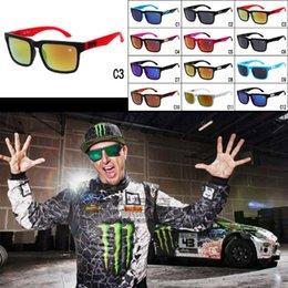 Wholesale Fashion Multi Color SPY Sunglasses Helm American Style KEN BLOCK Sunglasses Colorful Reflective Sports Eyewear Racing Sunglasses For Men