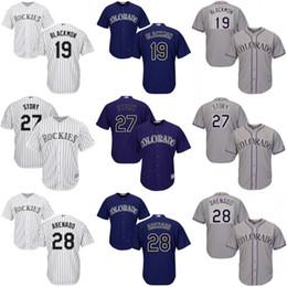 Wholesale Youth Charlie Blackmon Trevor Story Nolan Arenado Colorado Rockies kids Baseball Jersey stitched