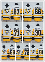 Wholesale 2017 Pittsburgh Penguins Away Hockey Jersey Sidney Crosby Evgeni Malkin Phil Kessel Mario Lemieux Kris Letang Jerseys