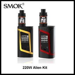 Wholesale Authnetic SMOK Alien Kit W Alien Box MOD whit ml TFV8 Baby Beast Tank V8 Baby Q2 Baby T8 Coil VS kanger dripbox s kit