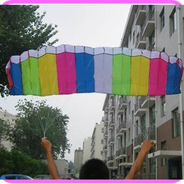 Wholesale On Sale m Power Dual Line Mixed color Parafoil Sports Beach Stunt Parachute Kite With Flying Tools