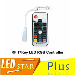 LED RGB Controller DC5V-24V 12A 17key mini RF Wireless Remote Dimmer For 5050 3528 RGB Flexible Strip Light