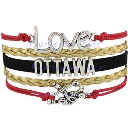 Custom-Infinity Love National Hockey League Ottawa Senators Bracelet Ice Hockey Player Team Fans Adjustable Bracelet Bangles-Drop Shipping