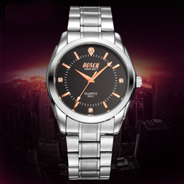 Crystal Watches for Man Steel Band Waterproof Round Dial Analog Quartz Business Casual Fashion Man Sport Watch