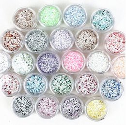New Nail Rhinestone Nail Accessiories Snowflake sequins Glitter 24 Colors Set