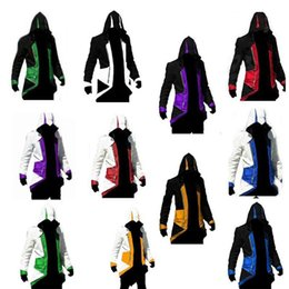 Wholesale 2016 New Hot Assassins Creed Cosplay Overcoat Colors Assassin s Creed Cool Men Tops Slim Connor Jacket