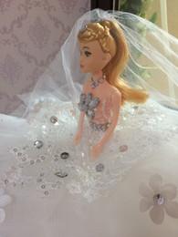 Compra Online Muñecas bjd-Páginaant Party Doll Accesorios Regalos Juguetes Barbie muñeca Novia Blanco vestido de novia Vestido de ropa Para Barbie Chica de la muñeca