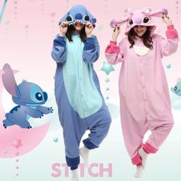 Wholesale Hot Anime Stitch Onesie Kigurumi Fancy Dress cosplay Costume Hoody Pajamas Sleepwear Size S M L XL