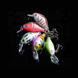 DHL shipping Lot Plastic Fishing Lures Bass CrankBait Crank Bait Tackle 3D Eye Fishing lures Opp bag packing 8.4g 5.5cm