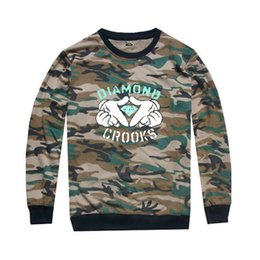 2016 Camouflage autumn hiphop men and women crooks and diamond long sleeve t-shirt castles plus size