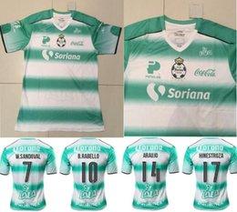 Wholesale Mexico Club Santos Laguna Torreon soccer jersey thai quality Mexico club Santos Laguna home green soccer football Jersey S XXL