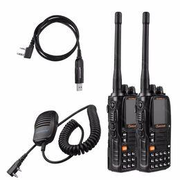 2-Pack WOUXUN KG-UV9D Plus V U 2.5Khz 136-174 400-512MHz Air Band 7 Bands U V or V U Cross-Band Repeater 5W 999 Channels DTMF F2D F3E