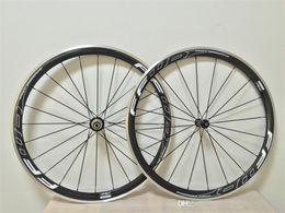 Wholesale FFWD F4R White logo mm carbon alloy road bike wheels K weave mm width mm road bike carbon alloy wheelset
