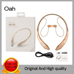 Wholesale HBS902 LEISURE Wireless Bluetooth headset Neckband Style With MIC Bass Headphones Earphone with stereo HiFI NFC MP3 FM