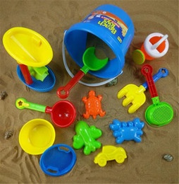 Wholesale Sand Buckets Beach Toys - Children beach bucket toys Classic Toys pot sand water seaside beach tools toy for kids birthday gifts