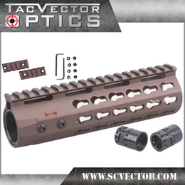 Wholesale Free S H Vector Optics Gen3 Slim Free Float KeyMod Carbine AR Handguard System Rail Inch Burnt Bronze with Steel Barrel Nut