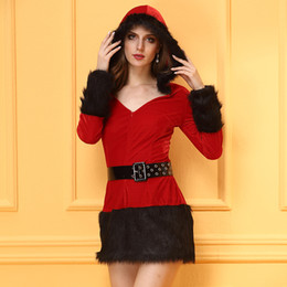 Christmas Conservative Fashionable Red And Black Glamour Comfortable Bodycon Ladies Dress Skirt, Good Quality,Santas Christmas Outfit