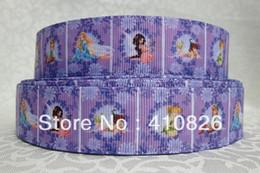 ribbon 1inch 25mm 813009 princess Pattern printed grosgrain ribbon 50yards roll for headband hair tie free shipping