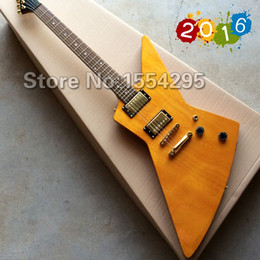 Wholesale Factory custom G custom shop Explorer shape Electric guitar with Gold Hardware in Amber yellow color All color are available