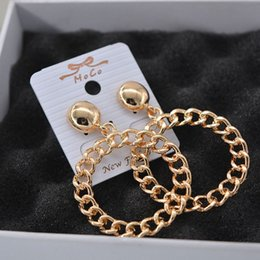 Wholesale 2016 New Hot Europe and America Big Brands Moss Zeno Runway Style Earring Mit Round Ring Metal Chain