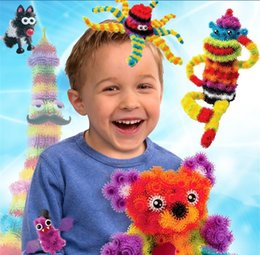 Wholesale 400pcs set Creative Cartoon Thorn Ball Clusters DIY Assembly D Puzzle Toys Puff Ball Squeezed Ball Children Educational Toys