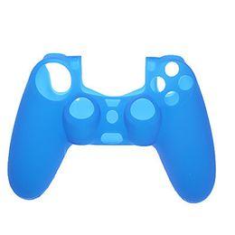 Promotion contrôleur ps4 couvercle du boîtier Livraison gratuite couverture en silicone souple en caoutchouc de gel de manche de caoutchouc de vente pour SONY PlayStation 4 PS4 Controller Wireless