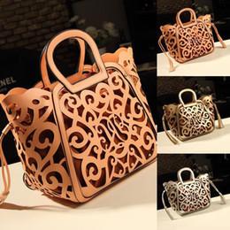 Wholesale best New Brand Design Retro carved hollow noble PU Leather Women lady Handbag Messenger Bag Shoulder Bag Tote Bag top sale