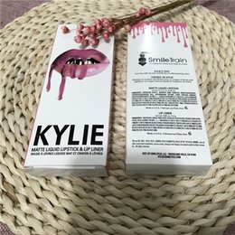 Wholesale In stock KYLIE JENNER SMILE TRAIN LIP KIT Kylie Matte Liquid Lipstick Lip Liner Kylie lip Velvetine in Red Velvet Makeup KYLIE COSMETICS