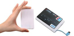 Wholesale 2600mah Ultra Thin Credit Card Power Bank mah USB Promotion PowerBank with Built In USB Cable Backup Emergency Super Light Small UPS