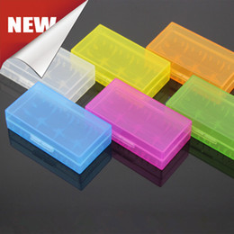Wholesale Plastic Battery Case Cover Box Holder Storage Container Battery Holder Box For Ecig Battery Free Ship