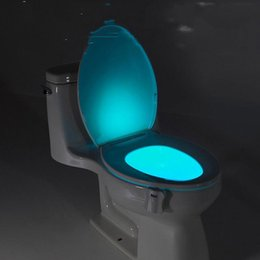Wholesale Body Motion Sensor Automatic Seat LED Light For Toilet Bowl Lid Color Lamp