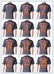 Wholesale Fast Thai Bayern Soccer Jersey Lewandowski Muller COSTA VIDAL KIMMICH Munich Away Grey Gray Jerseys Shirt
