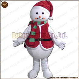 Costume de mascotte de commande à vendre-Costume de mascotte de bonhomme de neige de Noël la livraison libre, adulte bon marché de bande dessinée de mascotte de bonhomme de neige de peluche de qualité, accepte l'ordre d'OEM.
