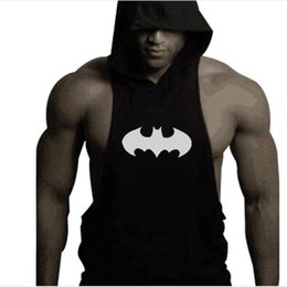Wholesale-New Men Hoodie Gym brand sweatshirts Fitness Workout Sports Sleeveless tees shirt cotton vest singlets Hooded Vest Outdoor 003