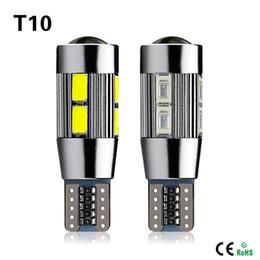 Wholesale 1X Aluminum Body High Power HID COB T10 Auto Car LED Bulb lamp W5W CANBUS Parking Fog Interior Car light
