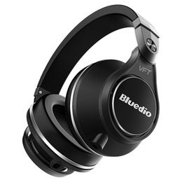 Wholesale Bluedio U Plus UFO Wireless Bluetooth headphones Patented PPS12 Drivers Over Ear DJ Headset Pro Extra Bass