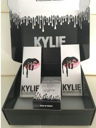 Wholesale US new out burst models Kylie Lip Kit by kylie jenner lip gloss lipstick lip liner suit Kylie Jenner Matte Lip Kit Dead Of Knight