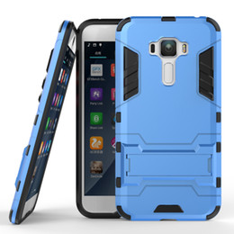 Wholesale Armour Kickstand Cover for ASUS Zenfone ZE552KL ZE520KL ZE601KL E Zenfone Deluxe ZS550KL Hybrid Anti Shock Defender Armor Silicone Case