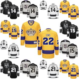 Wholesale Los Angeles Kings Jersey Tom Gilbert Andy Andreoff Nick Shore Trevor Lewis Men s Stitched Embroidery Logos Hockey Jerseys