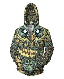 Wholesale Street Sweatshirt Collar - Ovo New fashion winter autum brand 3d sweatshirt OPLV air Owl Dreams Zip up crewneck hoodies women men street hip hop crewneck sudaderas