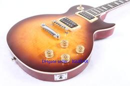 Custom made China guitars ONE PIECE NECK HONEY BURST China Guitar Wholesale guitar Free Shipping
